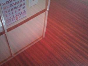サペリ染色UVクリア塗装