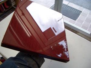 サペリマホガニー染色UVのレベリング