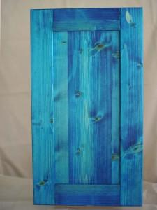 三層ホワイトウッドの本漆摺り仕上げ青