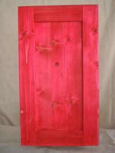 三層ホワイトウッドの本漆摺り仕上げ赤