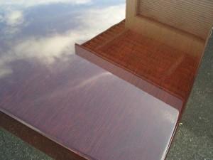 楢テーブル天板UVクリア塗装