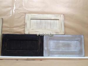 エイジング塗装のキッチン扉